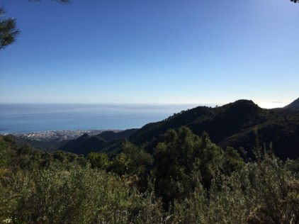 "View from the mountains on Marbella (and ""Hercules' Pillars"" on the horizon)"