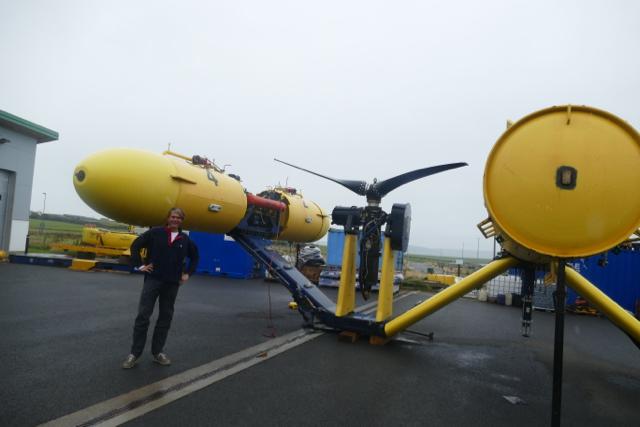 Marine Energy - Tidal turbines on shore