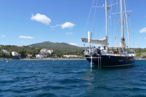Anchored in the bay where Salvador Dali lived