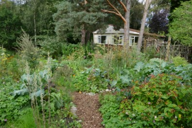 Communal garden in Ecovillage Findhorn