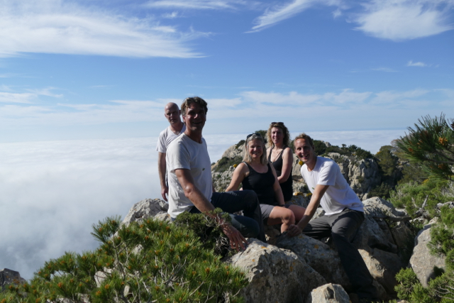 With Sylvain, Annemiek and Truus at the viewpoint