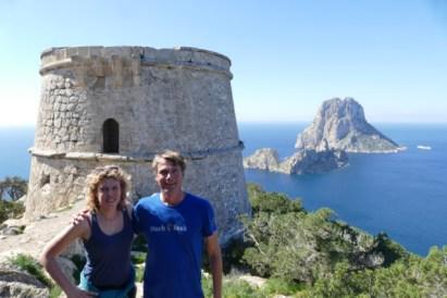 Truus and Ivar at the Torre de Salvinas