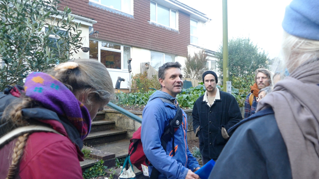 Hal explains garden dating in Transition Town Totnes
