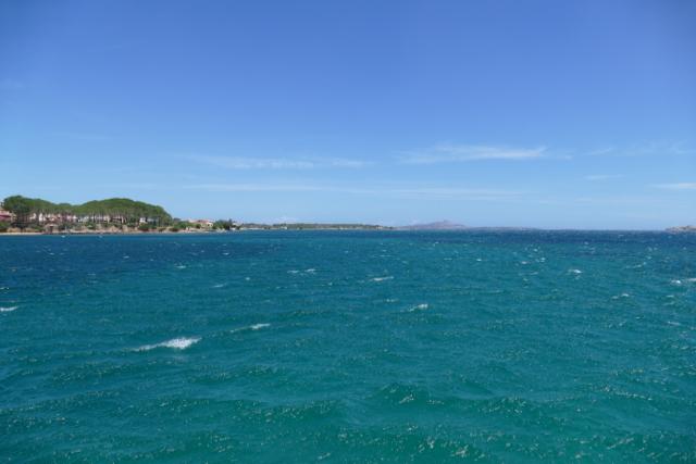 Sardinia, windy Cannigione bay
