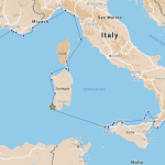 Our route from Isola di San Pietro to Crotone