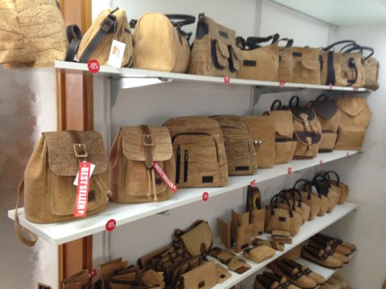 Creative handbags with cork