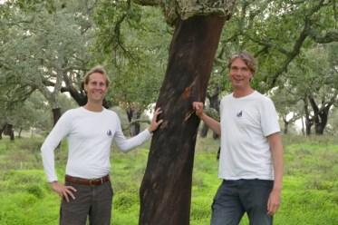 Floris, Ivar and a cork oak