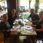 Tirana lunch with Suela and Laura