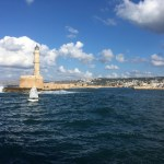 Chania harbour entrance