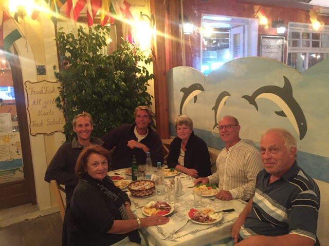 Dinner with Karin, Jeroen, Wim and Elly