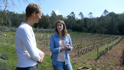 Elodie explains organic wine making