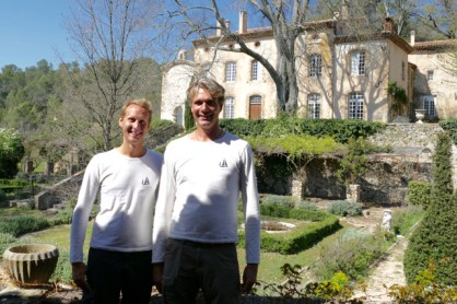 Floris and Ivar at Chateau Marqui