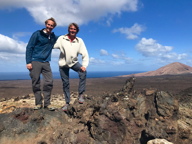 In the lava field
