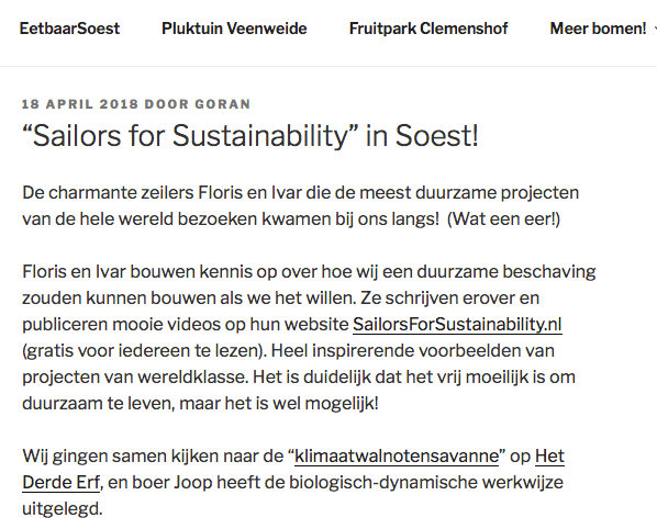 Sailors for Sustainability at Eetbaar Soest