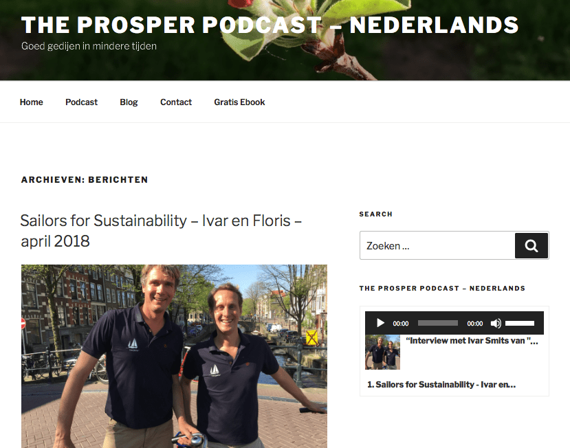 Sailors for Sustainability at the Prosper Podcast