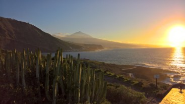 Sun sets next to Teide