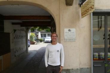 Floris at Italy's first SlowFood restaurant Boccondivino