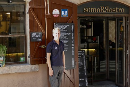 Floris at SlowFood restaurant Somorrostro