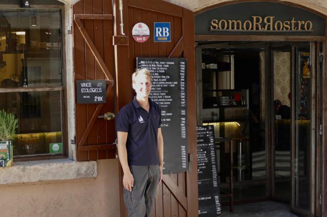 Floris at SlowFood restaurant Somorrostro