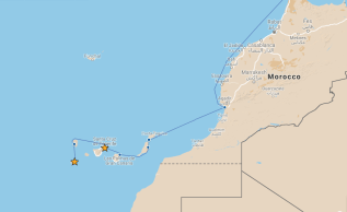 Our route from Tenerife to El Hierro