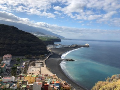 View on La Palma's Tazacorte harbour