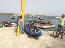 Local kids watching our kayak