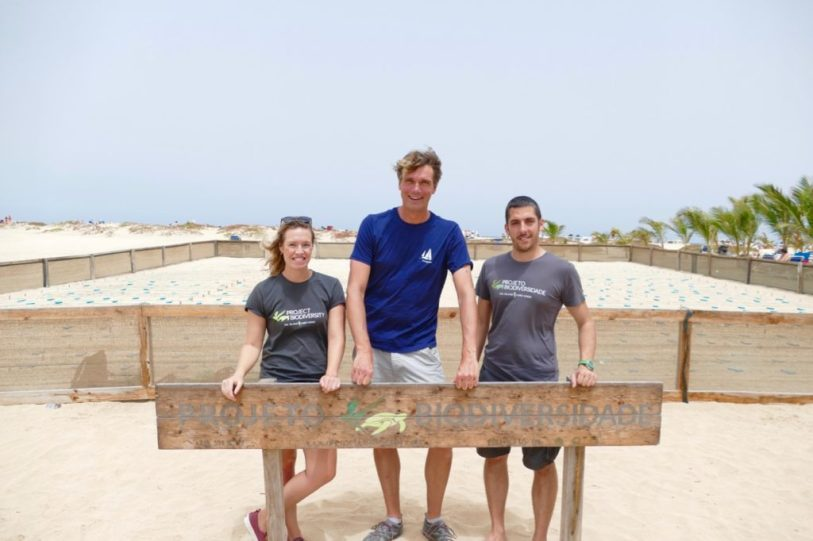 With Albert and Shannon at the sea turtle hatchery