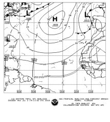 NOAA weather chart indicating Tropical Waves