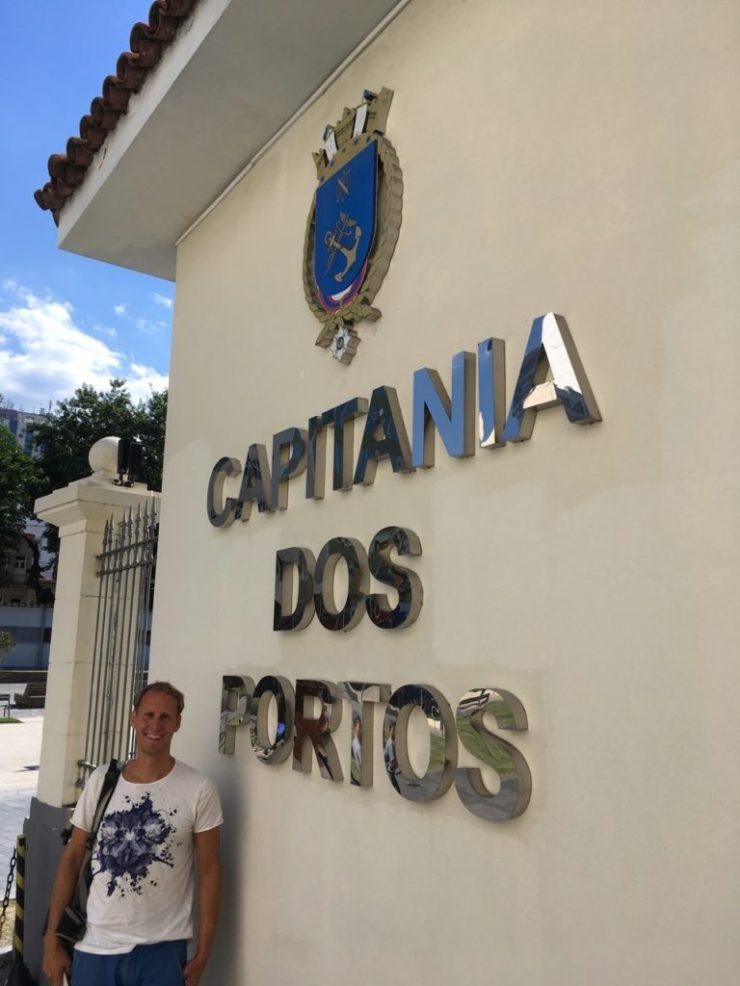 Visiting the Rio port authorities