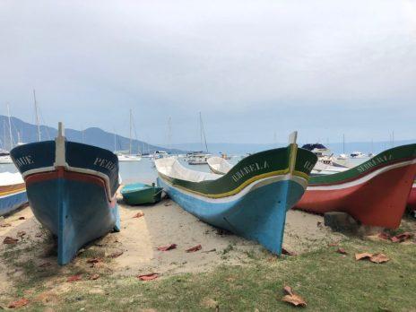 Traditional boats on Ilhabela