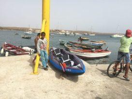 Local boys guarding our kayak
