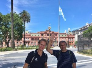 Casa Rosada with our friend Omar