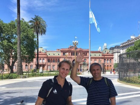 Casa Rosada with our friend Omar