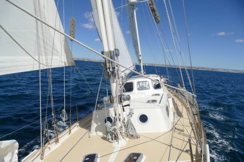 Leaving the Golfo Nuevo