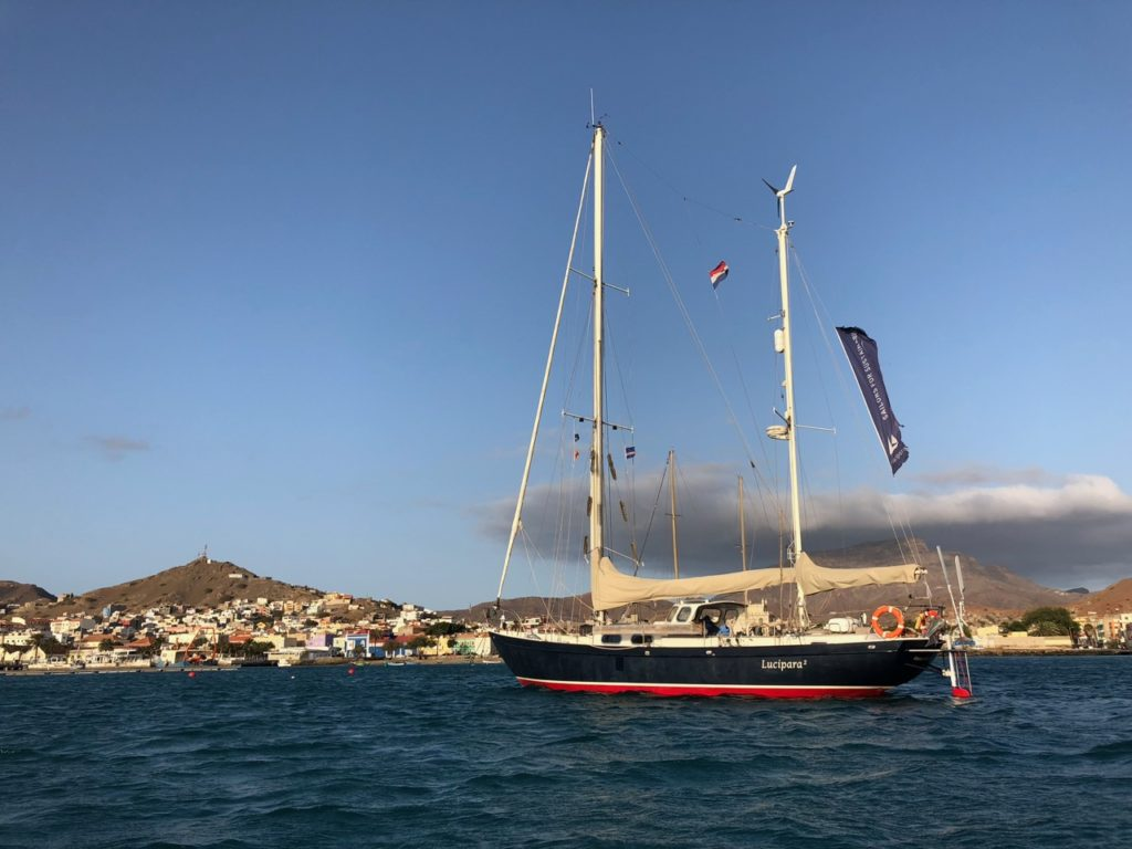 ucipara2 at the anchorage in Mindelo