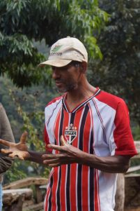 Coffee farmer Edmar explains his method