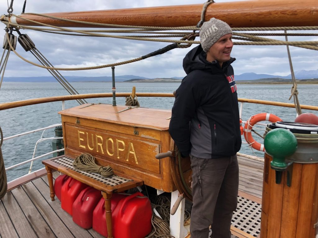 Floris at the helm