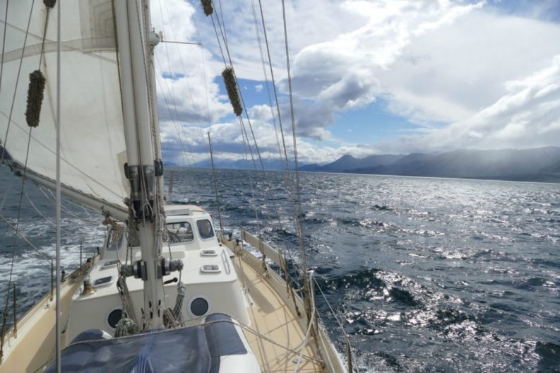 Westerly winds are great when you sail east