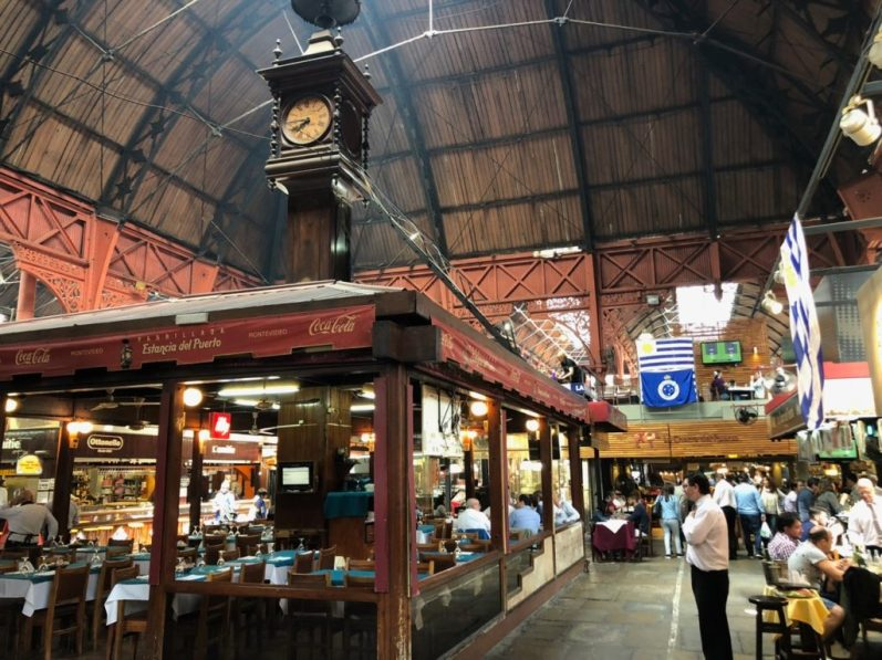 The famous Mercado del Puerto in Montevideo