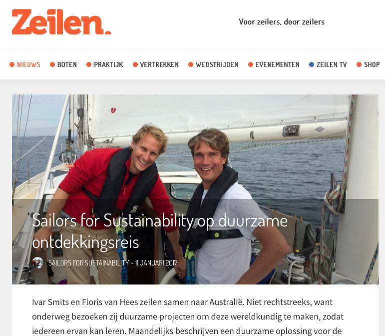 1 Sailors for Sustainability at Zeilen about their Mission 20170111