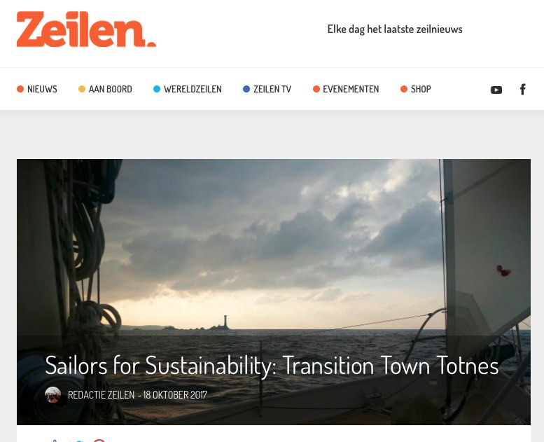 11 Sailors for Sustainability at Zeilen about Transition Town Totnes 20171008