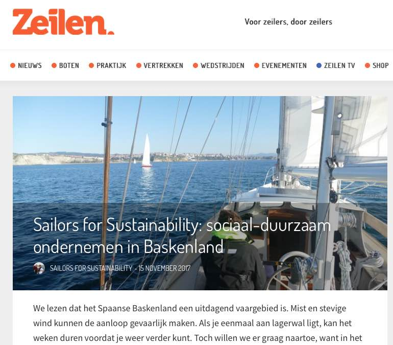 12 Sailors for Sustainability at Zeilen about Mondragon 20171115