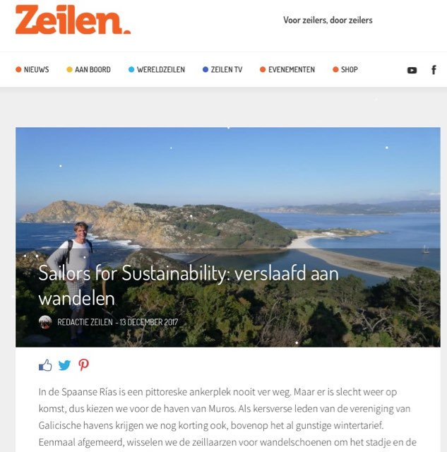 13 Sailors for Sustainability at Zeilen about Hiking 20171213