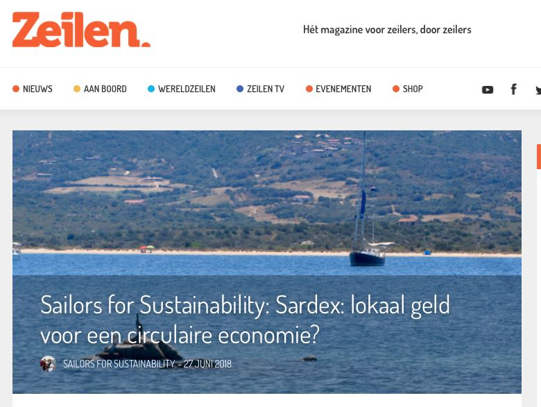 20 Sailors for Sustainability at Zeilen about Sardex 20190627