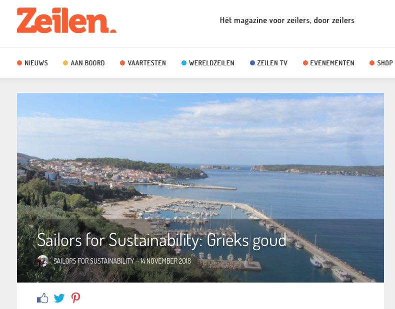 25 Sailors for Sustainability at Zeilen about Olive Oil 20181114