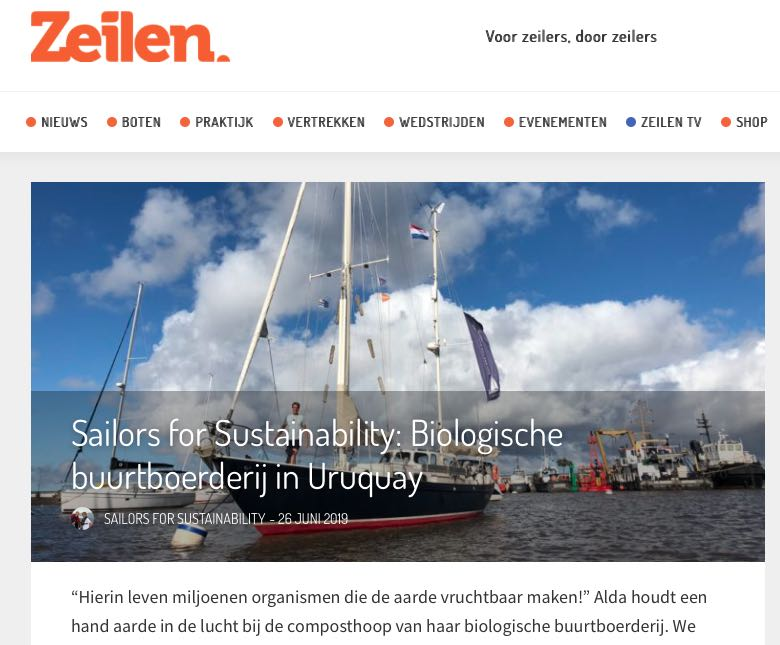 33 Sailors for Sustainability at Zeilen about Organic Farm in Uruguay 20190626