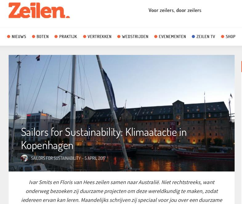 4 Sailors for Sustainability at Zeilen about Copenhagen's Climate Actions 20170405