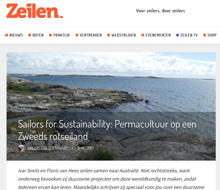 6 Sailors for Sustainability at Zeilen about Permaculture 20170531
