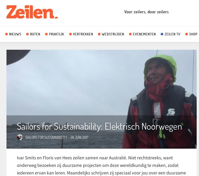 Blog 7: Sailors for Sustainability at Zeilen about Electrified Norway 20170628