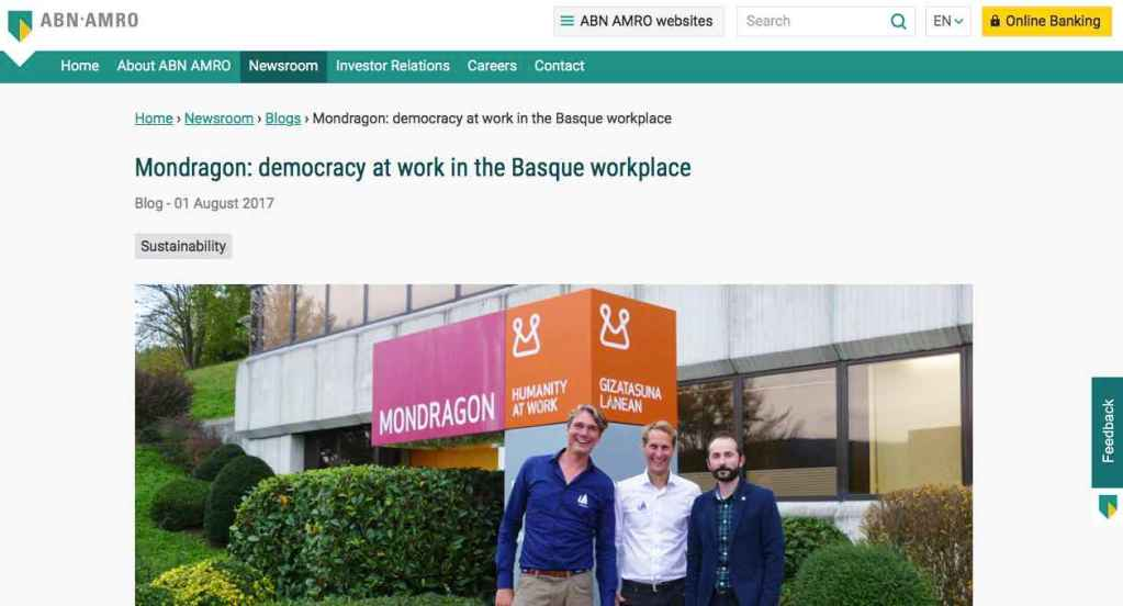 Blog 14 Eng Sailors for Sustainability at ABN AMRO Mondragon